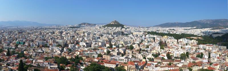 Panorama of Athens stock image