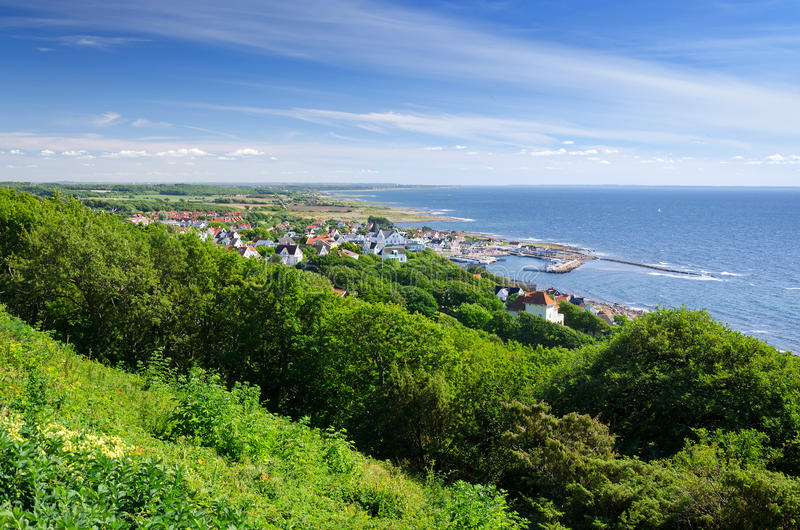 Panorama au-dessus de village de Molle images stock
