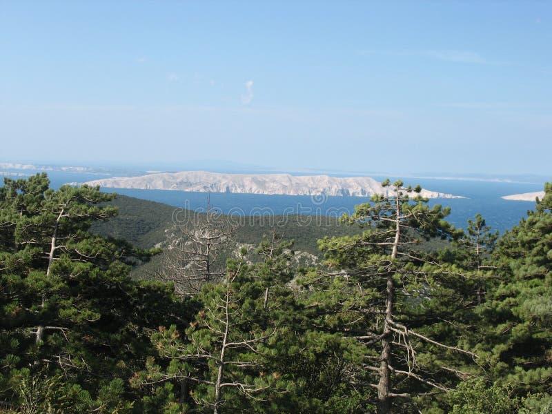 Panorama auf der istria Insel stockbild