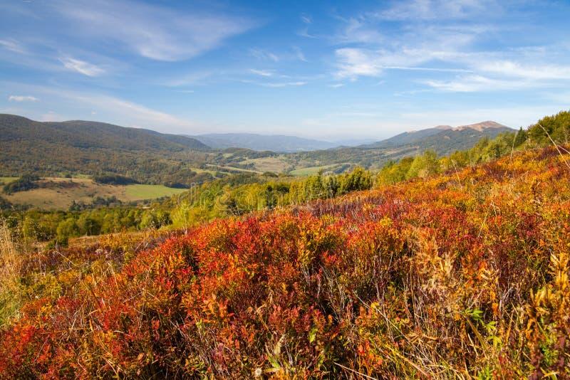 Panorama auf Karpaten-Bergen lizenzfreie stockbilder