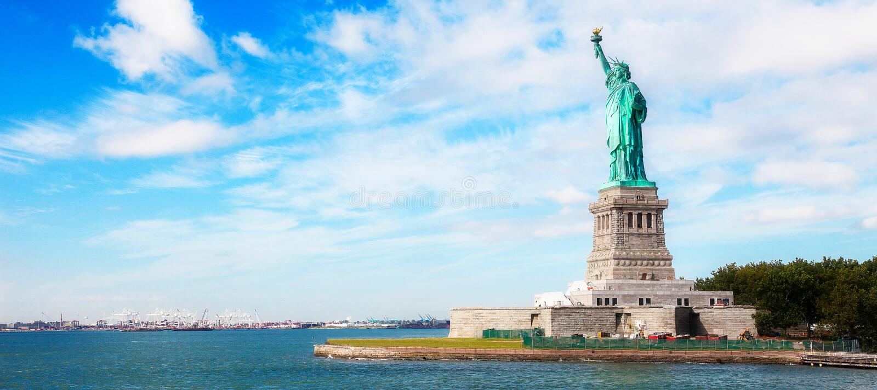 Panorama auf Manhattan, New York City stockfotos