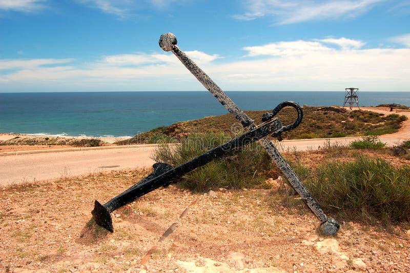 Panorama- australiskt landskap - fjärden av Exmouth Yardieliten vikklyfta i uddeområdenationalparken, Ningaloo arkivbilder