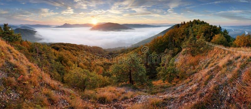 Panorama at autumn from peak Holis - Povazska Bystrica.  stock images