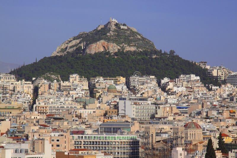 Panorama av Athens fotografering för bildbyråer