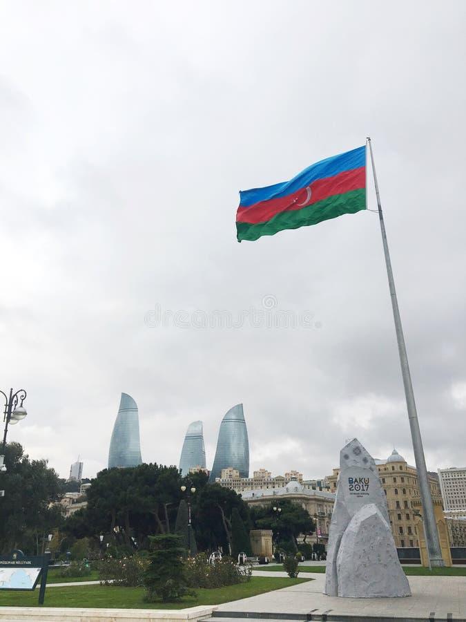 Panorama av Baku royaltyfri foto