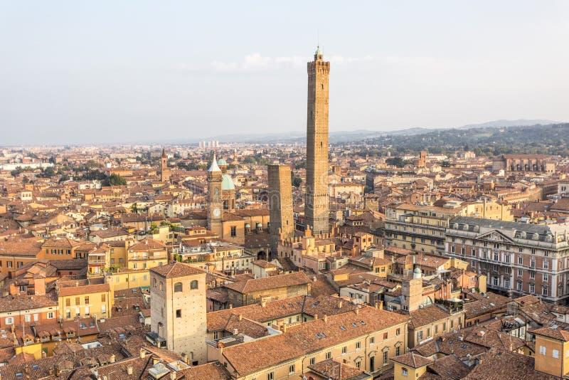 Panorama av bolognaen, Italien arkivbild