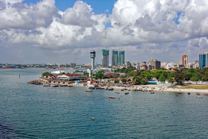 Panorama av Dar Es Salaam royaltyfria foton