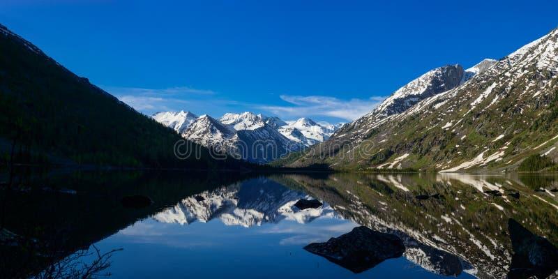 Panorama av den mellersta Multa sjön royaltyfria foton