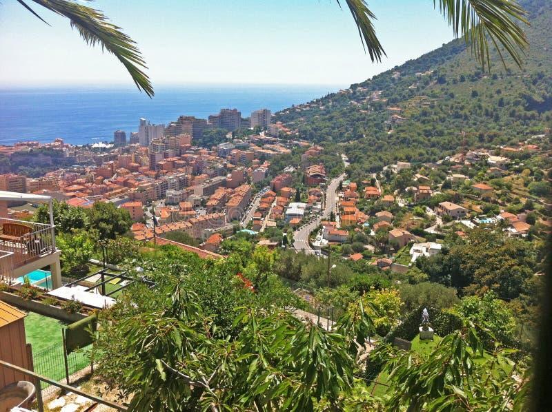 Panorama av den Monaco furstendömet royaltyfri foto