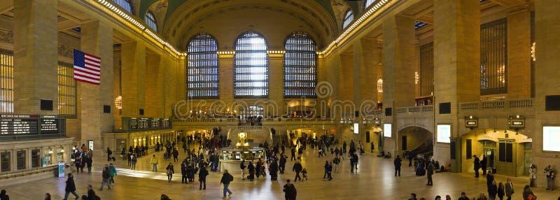 Panorama av den New York Grand Central stationen i Manhattan arkivbilder