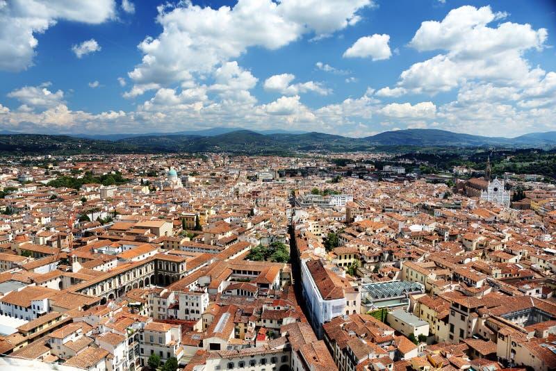 Panorama av det Florence landskapet, Toscany arkivfoto