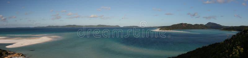 Panorama av det nordliga slutet av den Whitehaven stranden arkivfoto