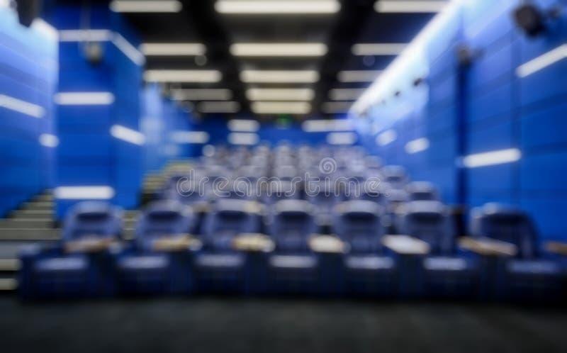 Panorama av en tom biokorridor som idérik abstrakt suddighetsbakgrund royaltyfria foton