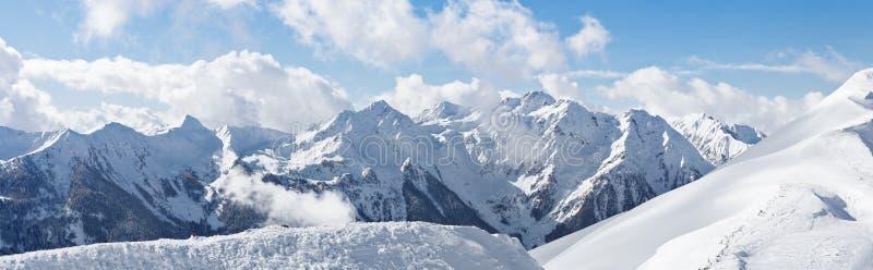 Panorama av fjällängarna royaltyfri bild