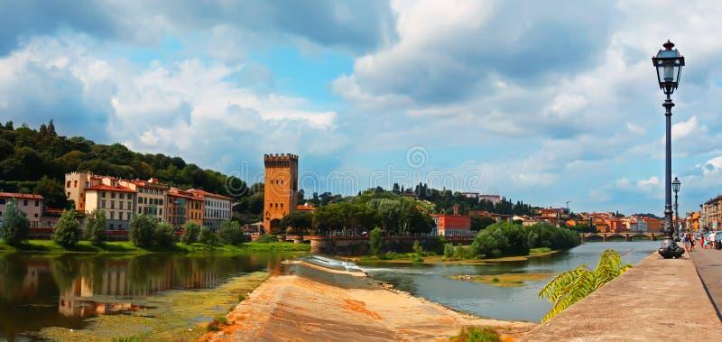 Panorama av Florance arkivfoton