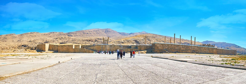 Panorama av forntida Persepolis, Iran royaltyfria bilder