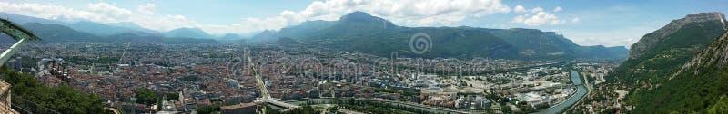 Panorama av Grenoble arkivfoto