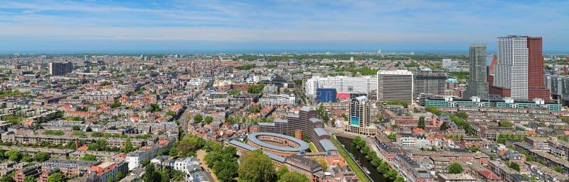 Panorama av Haag, Nederländerna royaltyfria foton