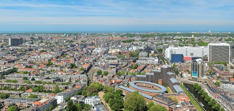 Panorama av Haag, Nederländerna royaltyfri bild