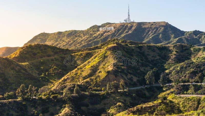 Panorama av Hollywoodet Hills royaltyfri fotografi