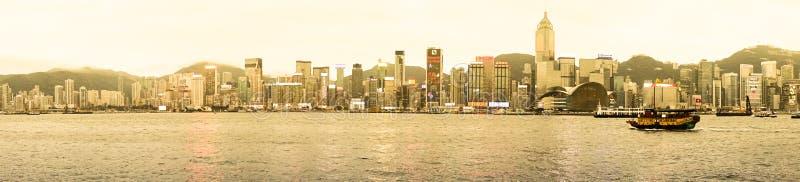 Panorama av Hong Kong royaltyfri foto