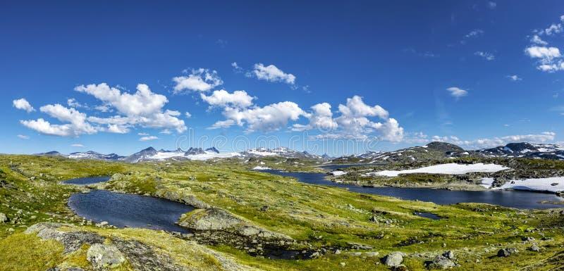 Panorama av JotunheimenNorway arkivbild