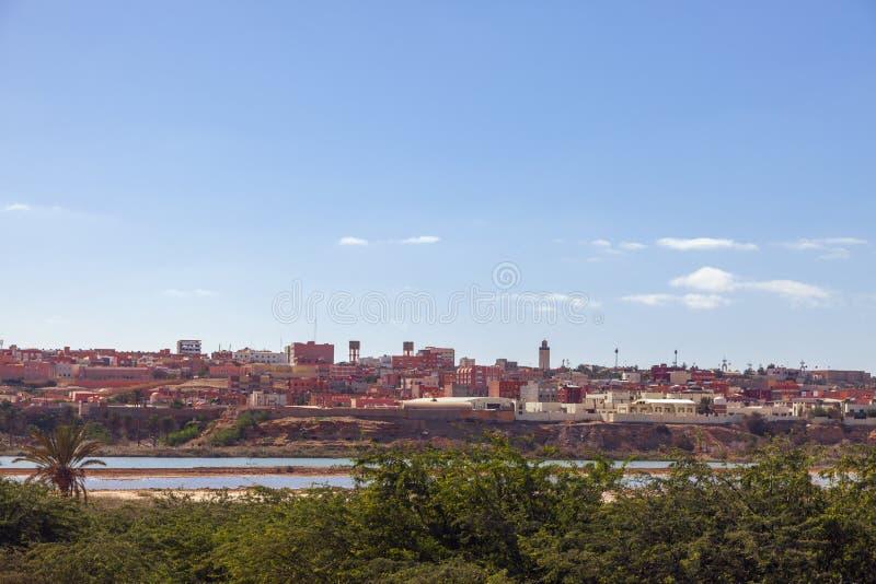 Panorama av Laayoune royaltyfri foto