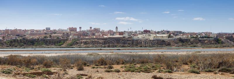 Panorama av Laayoune royaltyfria foton