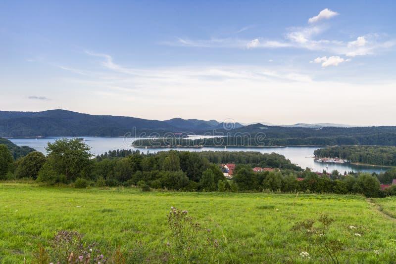 Panorama av laken arkivfoto