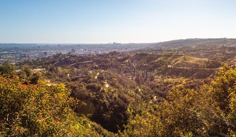 Panorama av Los Angeles stad I arkivfoto