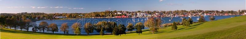 Panorama av Lunenburg, Nova Scotia, Kanada fotografering för bildbyråer