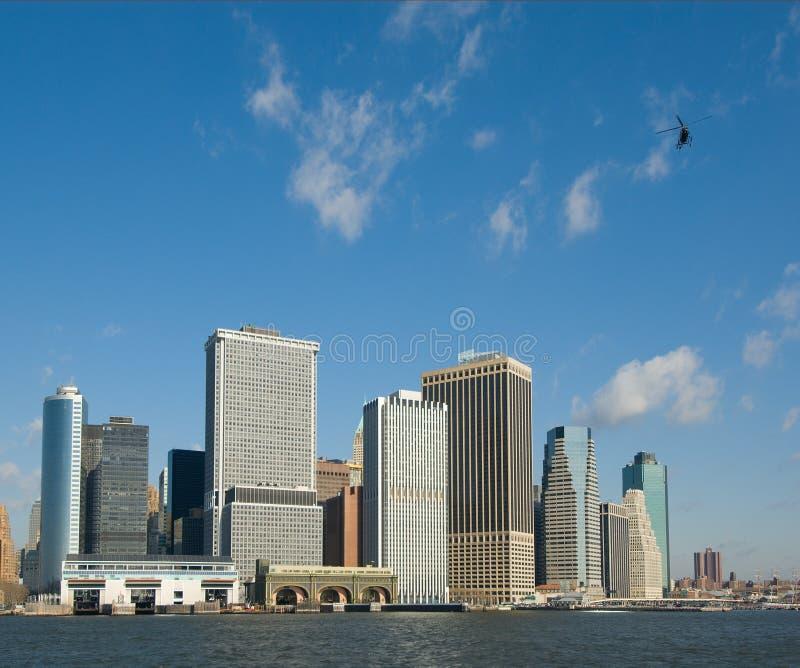 Panorama av manhattan fotografering för bildbyråer