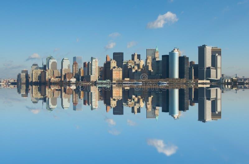 Panorama av manhattan, New York royaltyfri foto