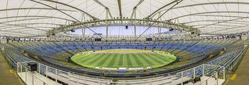 Panorama av Maracana stadion i Rio de Janeiro, Brasilien fotografering för bildbyråer