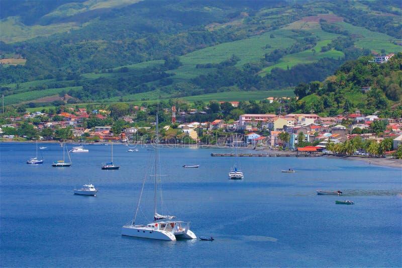 Panorama av Martinique som är karibisk royaltyfri bild