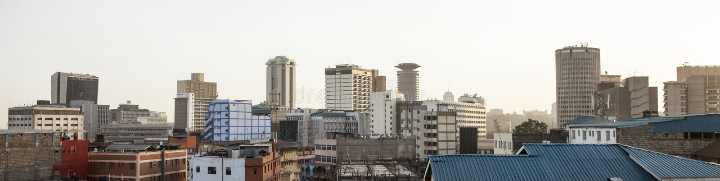Panorama av Nairobi, Kenya arkivbild