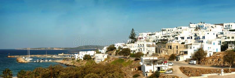Panorama av Naxos i Grekland arkivfoton
