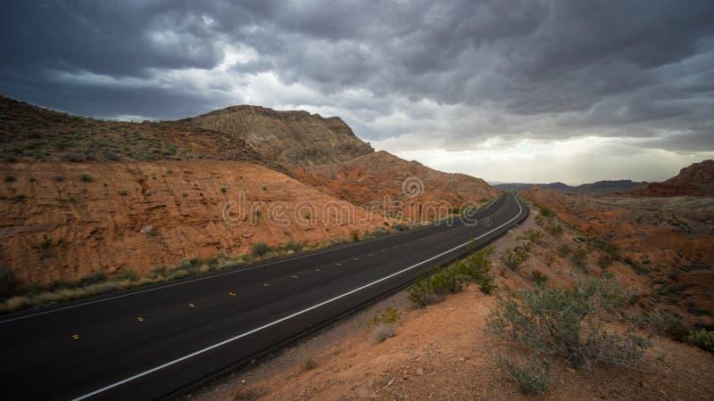 Panorama av Nevada Highway fotografering för bildbyråer