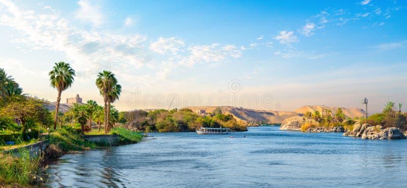Panorama av Nile River arkivfoton