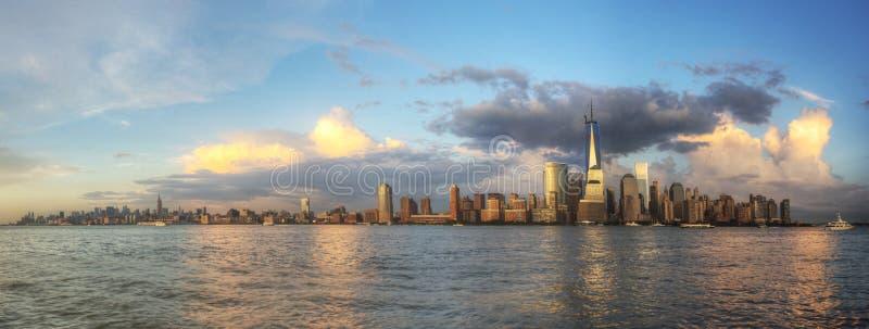 Panorama av NYC royaltyfri foto