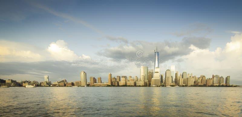Panorama av NYC arkivfoto