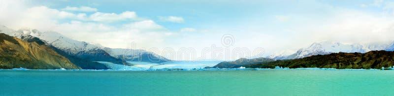 Panorama av Peritoen Moreno Glacier royaltyfria foton