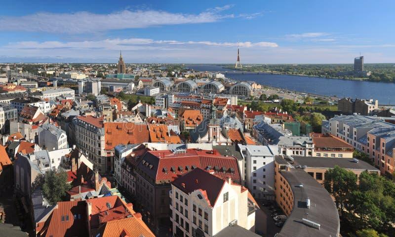 Panorama av Riga royaltyfri foto