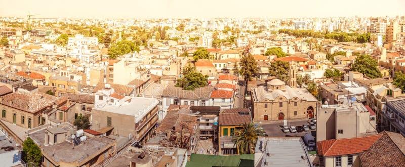 Panorama av söder av Nicosia cyprus royaltyfria foton