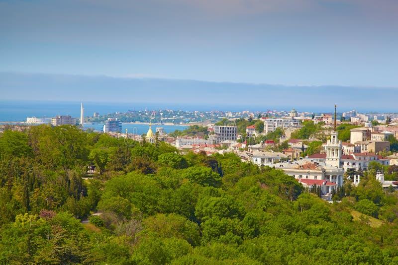 Panorama av Sevastopol royaltyfria foton
