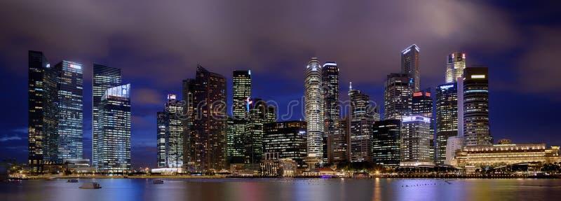 Panorama av Singapore stadshorisont fotografering för bildbyråer