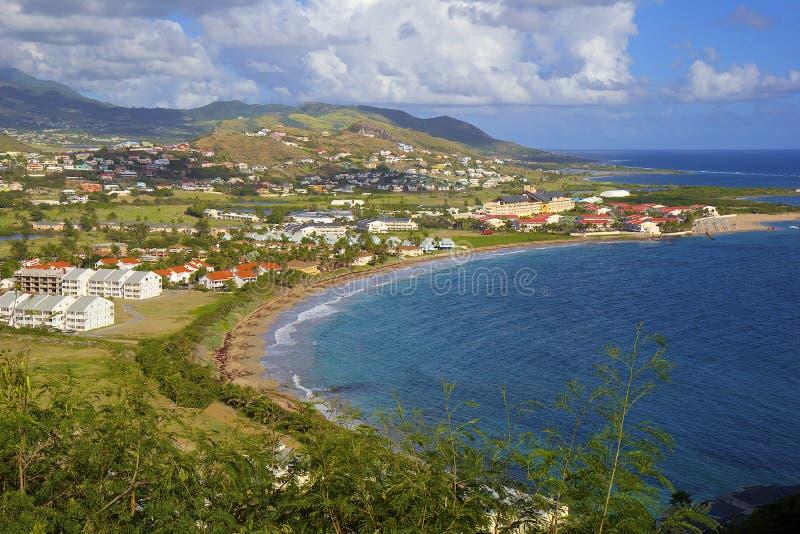 Panorama av St Kitts som är karibisk fotografering för bildbyråer