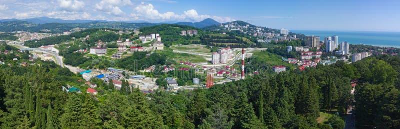 Panorama av staden av Sochi arkivbild