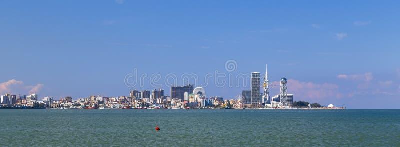 Panorama av staden av Batumi arkivbilder