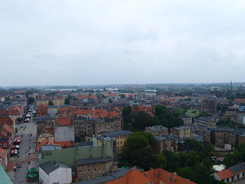 Panorama av staden Gniezno royaltyfri foto